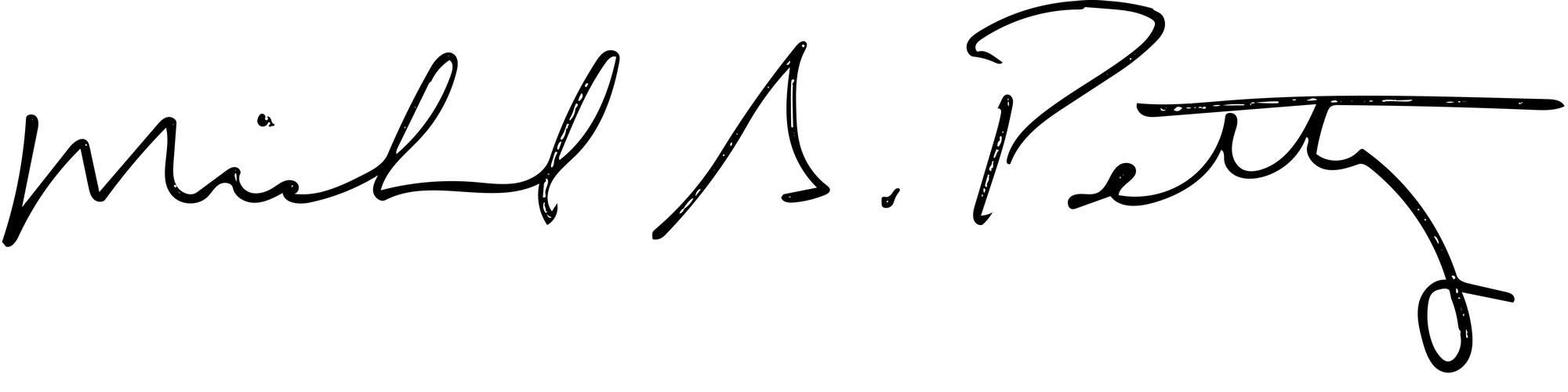 Michael S. Petty signature